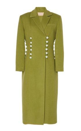 MATÉRIEL Wool-Blend Double Breasted Button Coat