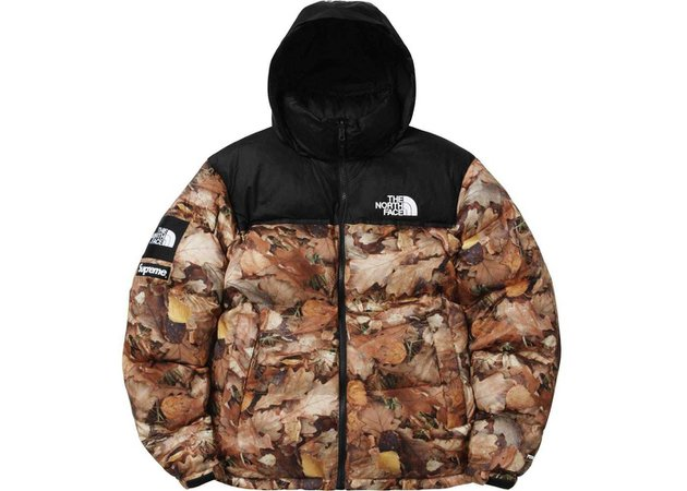 Supreme The North Face Nuptse Leaves