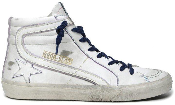 Slide Sneaker in White/Lavender