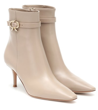 70 Leather Ankle Boots - Gianvito Rossi   Mytheresa
