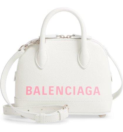 Balenciaga Extra Small Ville AJ Calfskin Top Handle Dome Satchel   Nordstrom