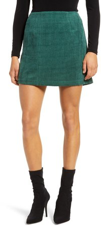 High Class Corduroy Mini Skirt