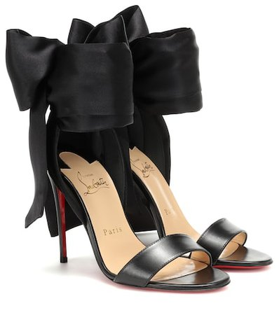 Sandale Du Desert leather and satin sandals