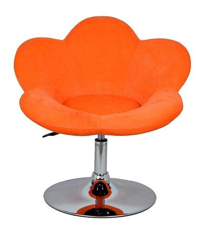 ts-ideen Barstool flower in orange/design lounge chair/bar chair/club Chair/swivel chair