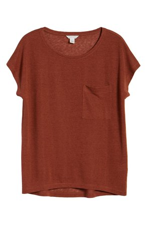 Caslon Slub Knit T-Shirt rust