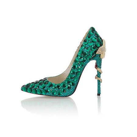 Emerald Drilling Snakes High Heels Shoes European And American Style Sexy Wedding Shoes Sexy Pointed Toe Party Fashion Crystal 10CM Shoe Boat Shoes From Missmi1234, $85.71| DHgate.Com