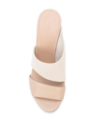 Vince Colour-Block Mule Sandals HIRO Neutral   Farfetch
