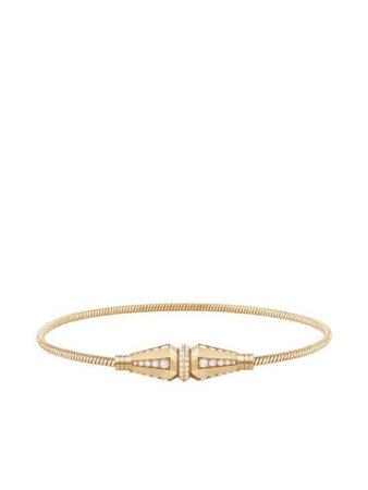 Boucheron 18kt yellow gold Jack de Boucheron single wrap diamond bracelet JBT00752 - Farfetch