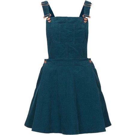 Dark Teal Overall Skirt