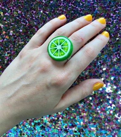 Lime Slice Ring
