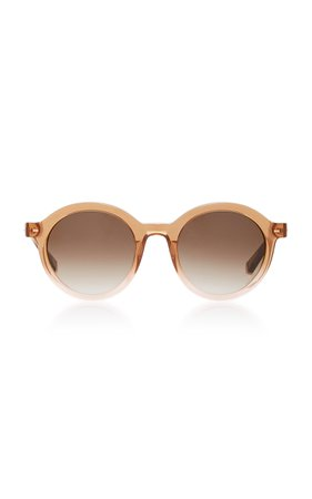 Kate Young Flora Round-Frame Acetate And Metal Sunglasses