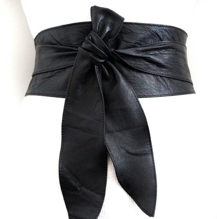 thick black corset belt