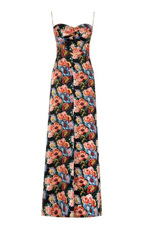 The Vampire's Wife The Love Bug Floral Silk Maxi Dress