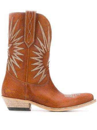 Golden Goose Wish Star Cowboy Boots - Farfetch