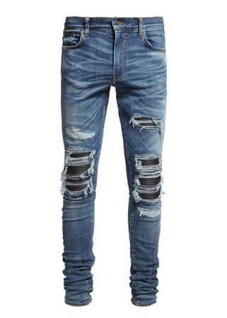 MX1 LEATHER PATCH JEAN MEDIUM INDIGO