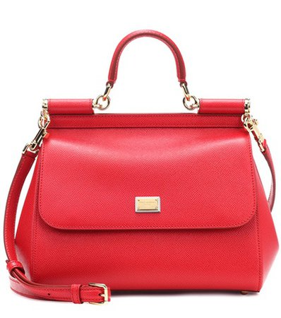 Miss Sicily Medium leather shoulder bag