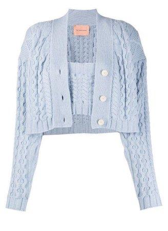 Light Blue Cropped Cardigan Pastel Crop Top