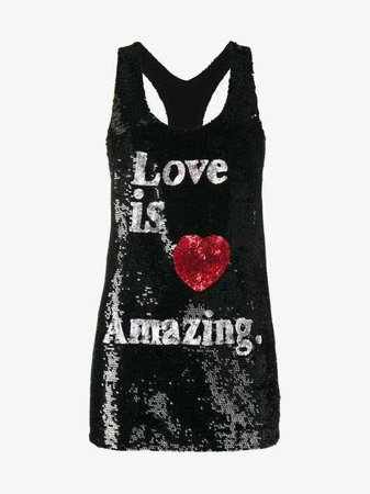 ASHISH  Love Is Amazing Sequin Embellished Tank Top $1,022