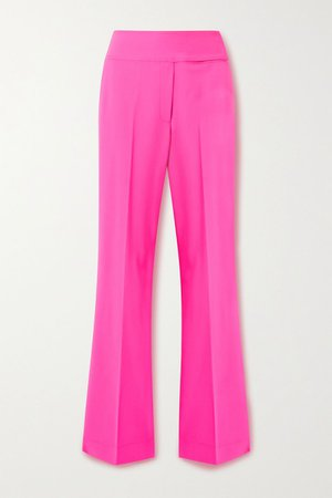 Bright pink Neon wool-blend pants | Christopher John Rogers | NET-A-PORTER