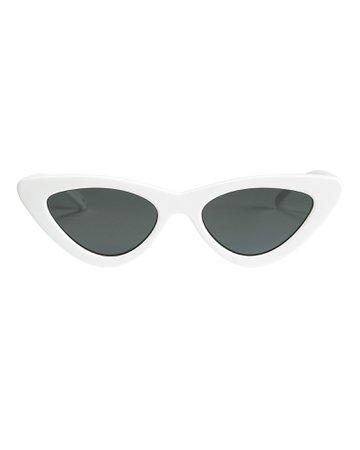 Le Specs x Adam Selman | The Last Lolita White Cat Eye Sunglasses