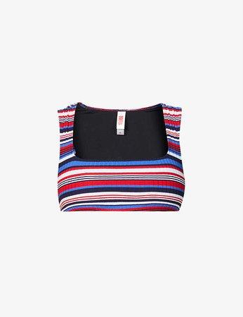 SOLID & STRIPED - The Cleo striped bikini top | Selfridges.com