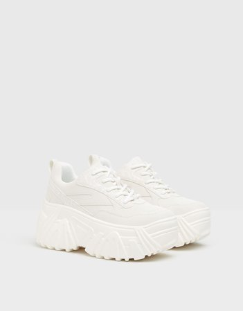 Reflective platform sneakers - New - Woman | Bershka