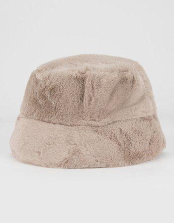 Faux Fur Bucket Hat - NATUR - MZ2003006 | Tillys