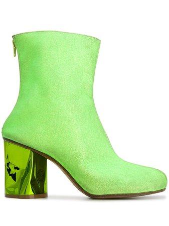 Maison Margiela Crushed Heel Ankle Boots | Farfetch.com