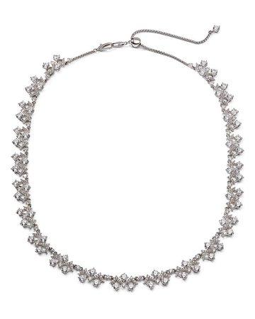 "Nadri Silver-Tone Cubic Zirconia Collar Necklace, 16""-19"" | Bloomingdale's"