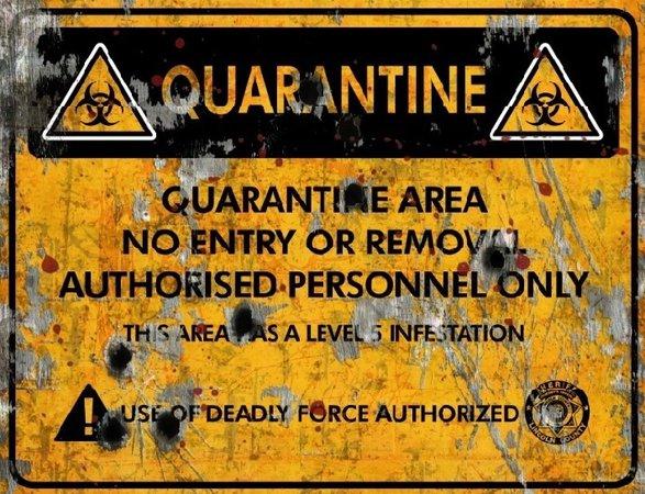 zombie quarantine sign - Google Search