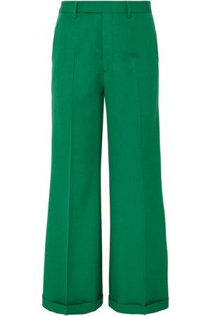 Gucci | Wool-gabardine wide-leg pants | NET-A-PORTER.COM