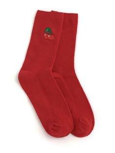 sock fruit red cherry