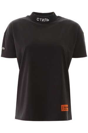 HERON PRESTON T-shirt With Embroidered Logo