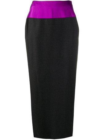 Gianfranco Ferré Pre-Owned 1990s Contrasting Panel Midi Pencil Skirt - Farfetch