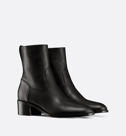 Black Dior Global Calfskin Low Boot - Shoes - Women's Fashion | DIOR