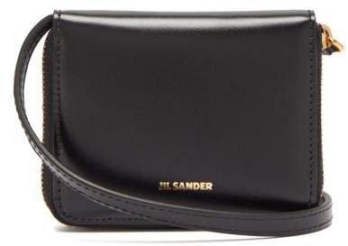 Leather Cross Body Wallet Bag - Womens - Black