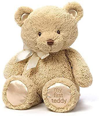 "Amazon.com: Baby GUND My 1st Teddy Bear Stuffed Animal Plush, Tan 15"": Toys & Games"