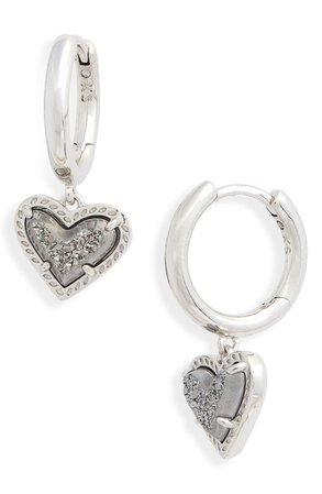 Ari Heart Huggie Hoop Earrings | Nordstrom