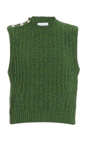 Recycled Wool-Blend Sweater Vest By Ganni | Moda Operandi