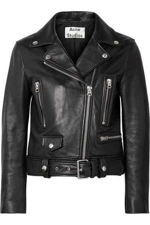 Acne Studios | Leather biker jacket | NET-A-PORTER.COM