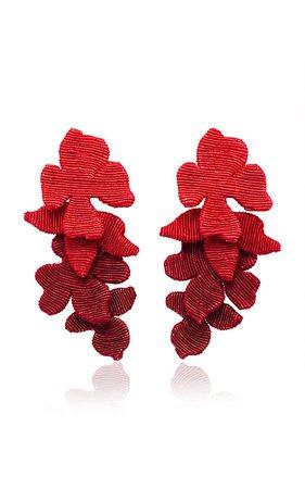 Blossom Silk Cord Clip Earrings by Rebecca de Ravenel | Moda Operandi