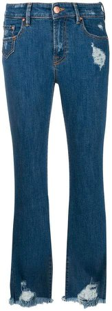 Don't Cry frayed bootcut jeans