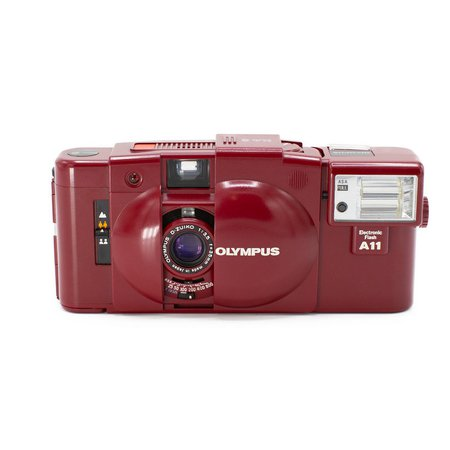 Olympus XA2, A11 Flash (Ltd. Red Edition) — Brooklyn Film Camera