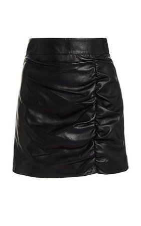 Ruched Leather Mini Skirt By Zeynep Arçay | Moda Operandi