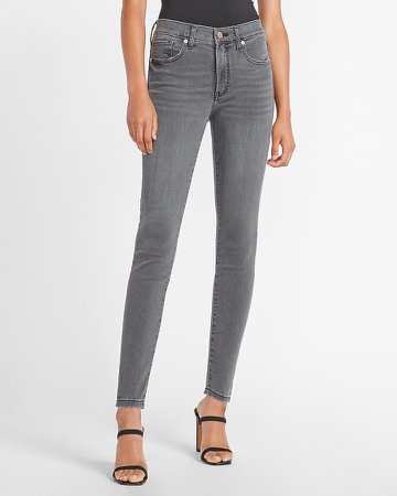 Mid Rise Faded Black Skinny Jeans