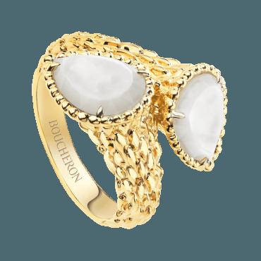 BOUCHERON, SERPENT BOHÈME TWO-STONE RING