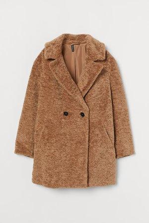 Teddy Bear Coat - Dark beige - Ladies | H&M US