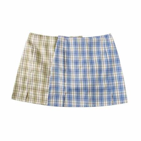 Women Split Details Plaid Mini Skirt with Under Shorts Mini Skort In Check on AliExpress