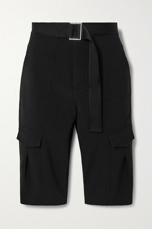 Oter Belted Twill Shorts - Black
