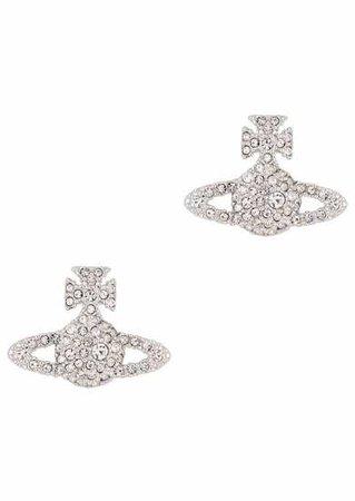 Vivienne Westwood Grace crystal-embellished orb stud earrings - Harvey Nichols